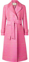 Fendi Prince Of Wales Checked Jacquard Coat - Pink