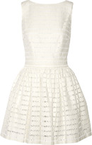 Thakoon Lace-trimmed textured-knit mini dress
