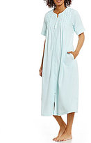 Miss Elaine Embroidered French Terry Zip Robe