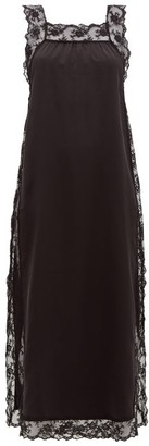 Sir - Aries Lace-trimmed Silk Slip Dress - Womens - Black