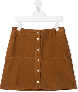 Lanvin Enfant TEEN buttoned corduroy skirt