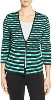 Ming Wang Women's Print Knit V-Neck Jacket