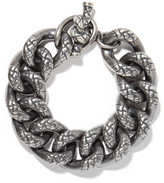 Bottega Veneta Oxidized Silver Bracelet