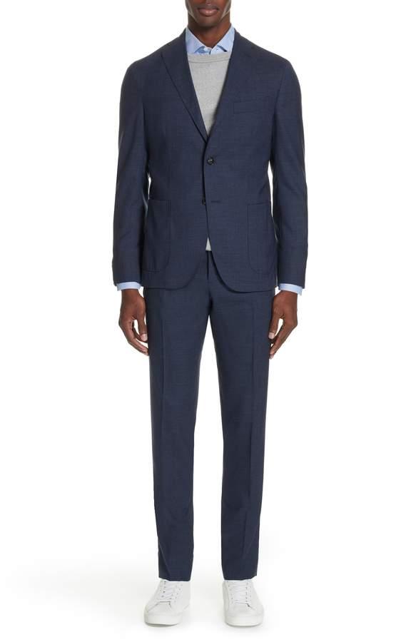 Boglioli Trim Fit Solid Wool Suit