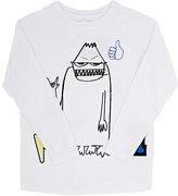 Stella McCartney Monster-Graphic T-Shirt-WHITE