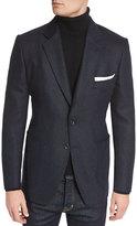 Tom Ford O'Connor Base Tweed Cardigan Jacket, Navy