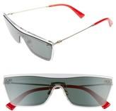 Valentino Garavani Women's Valentino Rockstud 50Mm Rectangular Sunglasses - Green