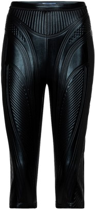 Thierry Mugler Embossed scuba biker shorts