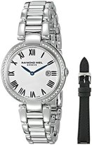 Raymond Weil Women's 'Shine' Swiss Quartz Stainless Steel Casual Watch, Color:Silver-Toned (Model: 1600-STS-00659)