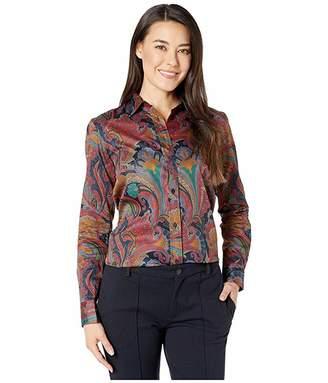 Lauren Ralph Lauren Petite Paisley Button-Down Shirt