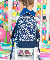 Designs By Two Greek Sisters Designs by Two Greek Sisters Backpacks - Blue Swirl Personalized Dani Backpack