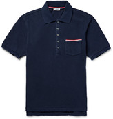 Thom Browne - Slim-fit Distressed Cotton-jersey Polo Shirt