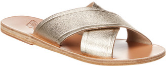 Ancient Greek Sandals Thais Metallic Leather Sandal