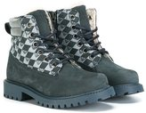 Armani Junior harlequin print lace-up boots