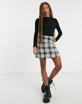 Thumbnail for your product : Pimkie ribbed high neck top in black