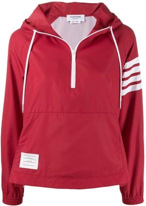 Thom Browne Hooded Zip Up Jacket