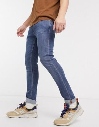 Nudie Jeans Skinny Lin skinny fit jeans in dark blue navy
