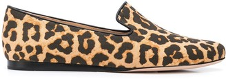 Veronica Beard Griffin leopard print loafers