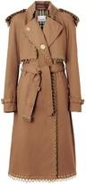 Burberry Chain Detail Cotton Gabardine Trench Coat