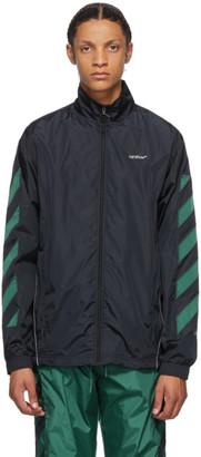 Off-White Black Nylon Diag Jacket