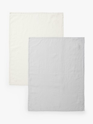 John Lewis & Partners Linen Tea Towels, Pack of 2