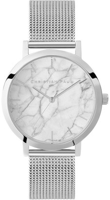 Christian Paul Marble Silver Watch