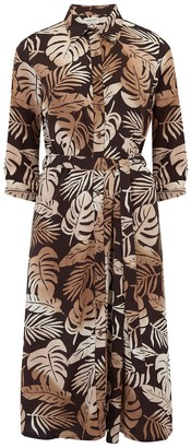 Sugarhill Brighton Merissa Cocoa Palm Batik Midi Dress