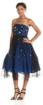 Tracy Reese Women's Strapless Beaded Fit and Flare Dress