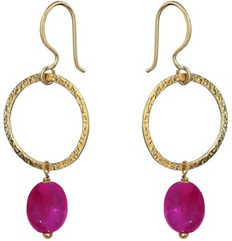 Mirabelle Jewellery Margaret Earrings Pink Quartz