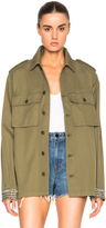 Saint Laurent Oversized Military Studded Jacket