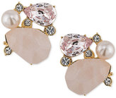 Carolee Gold-Tone Cluster Stud Clip-on Earrings