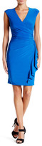 Anne Klein Surplice Ruffle Sheath Dress