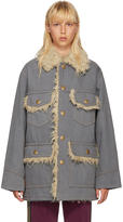 Marc Jacobs Grey Oversized Denim Coat