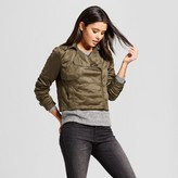 Mossimo Women's Crop Trench Jacket Olive Green