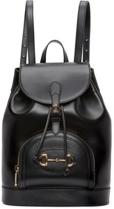 Gucci Black 1955 Horsebit Backpack
