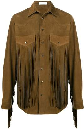 Faith Connexion suede fringe shirt