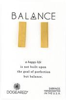 Dogeared Balance Wide Bar Stud Earrings