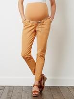Maternity Chino Trousers, Inside Leg 32 cm - grey caramel, Maternity | Vertbaudet