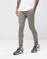 Asos Lightweight Extreme Super Skinny Joggers In Grey
