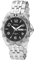 JCPenney Armitron Mens Black Dial Stainless Steel Watch