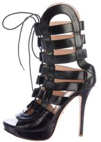 Jerome C. Rousseau Leather Cage Sandals