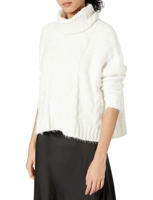 Jack by BB Dakota Women's Eyelash Kisses Chenille Cable Knit Sweater