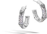John Hardy Women's Bamboo Small Hoop Earring in Sterling Silver with Grey Sapphire