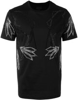Les Hommes crystal flower T-shirt - men - Cotton - XS