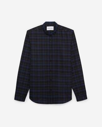 The Kooples Chic check cotton shirt with officer collar