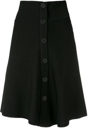 Egrey Knit Buttoned Mini Skirt