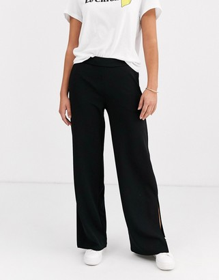 Y.A.S wide leg trouser with split detail