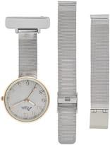 Bermuda Watch Company Annie Apple Empress Interchangeable Rose Gold, Silver Mesh Wrist To Nurse Watch Ladies