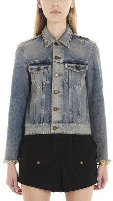 Saint Laurent Buttoned Denim Jacket