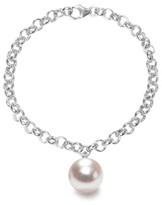 Ora Pearls Magna Silver Chain Bracelet XXL White Pearl
